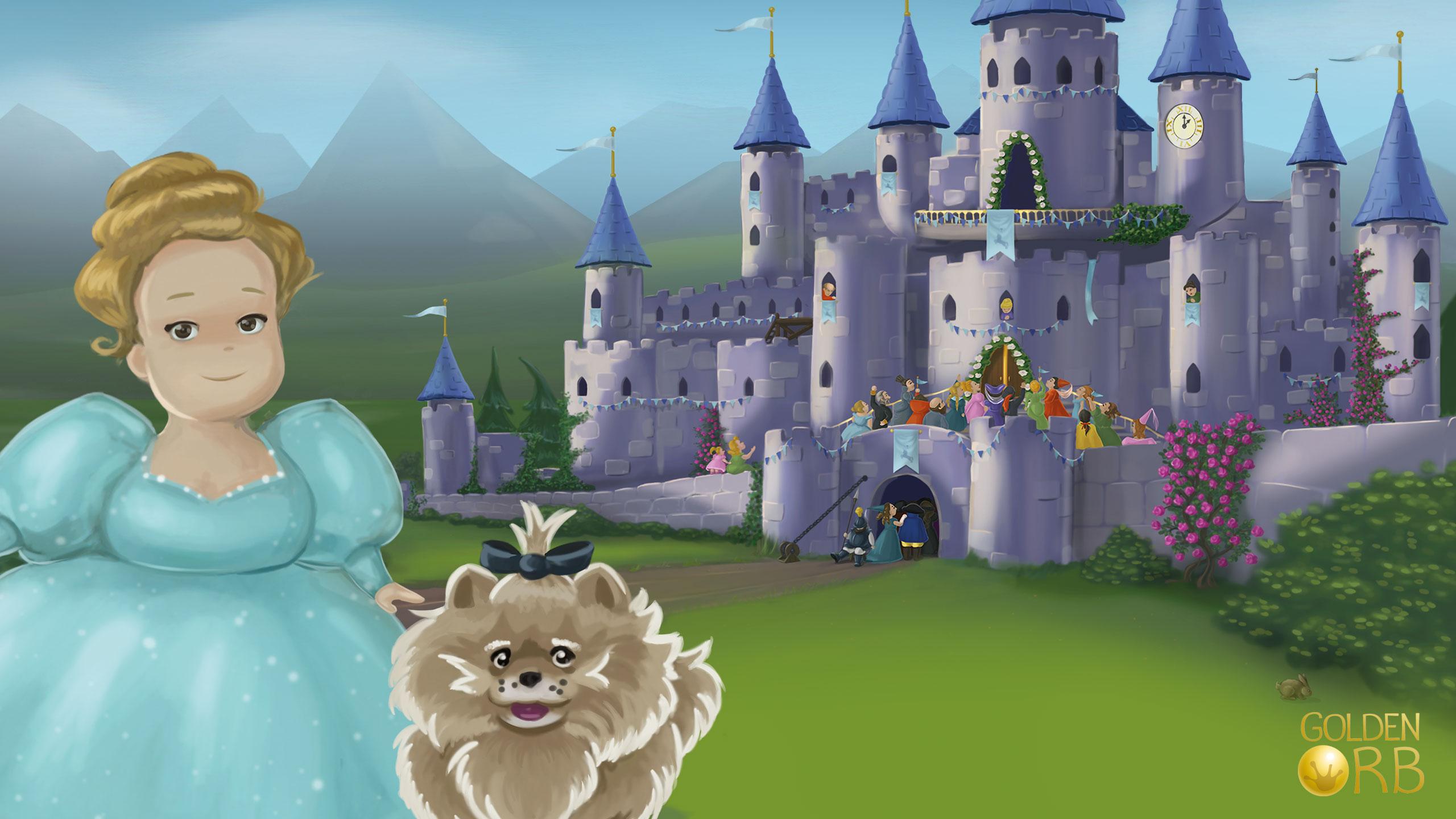 Aschnputtel Screenshot Schloss und Hund