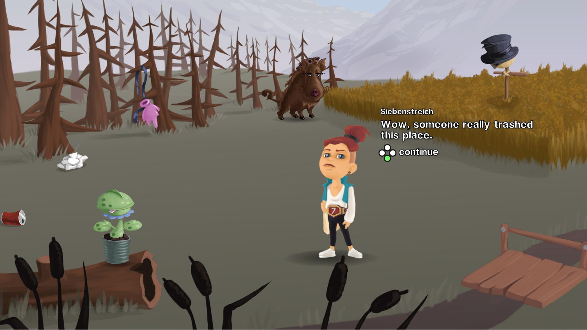 Siebenstreich meets the wild boar
